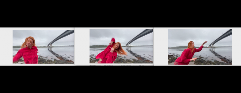 Video stills from 'Bend in the River' (2020) a collaboration with dancer Janie Doherty (click link below)